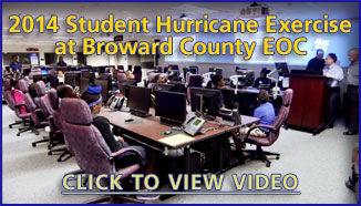 2014 Student Hurricane Exercise at Broward County EOC