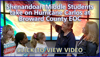 Shenandoah Middle Students take on Hurricane Carlos
